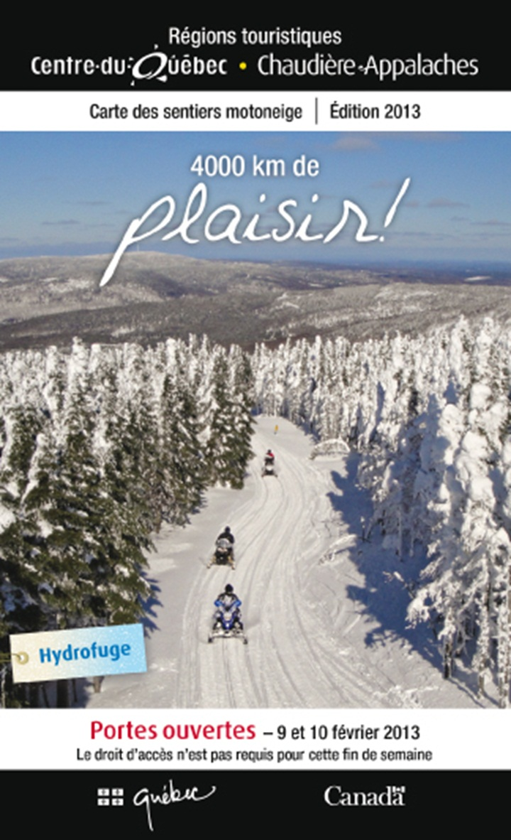Cover snowmobile trail map 2013