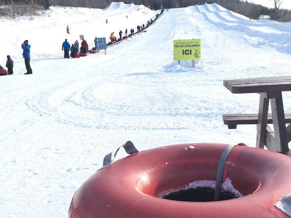 Super zone de glissades Le Tube
