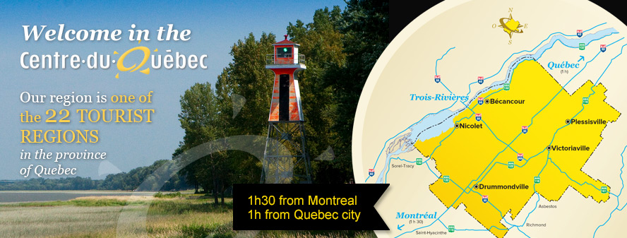 Official tourism brochures guide Centre of Quebec brochures – Quebec Tourist Attractions Map