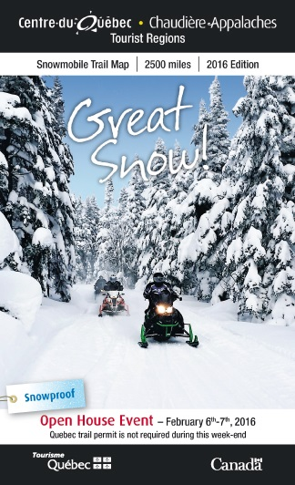 Cover snowmobile map 2016